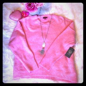 "NWT Vince Camuto ""Unicorn"" Pink Oversized Sweater"